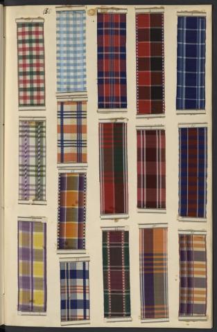 Registre 4 des rubans à rayures et écossais