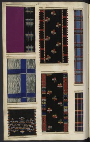 Registre 5 des rubans à rayures et écossais