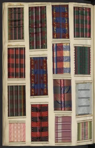 Registre 6 des rubans à rayures et écossais