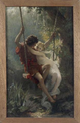 Le Printemps, Huile sur toile, Pierre Auguste Cot, vers 1880.