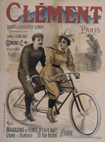 Affiche publicitaire Clément Dessinateur Pal, imprimeur Paul Dupont, Paris, 1895