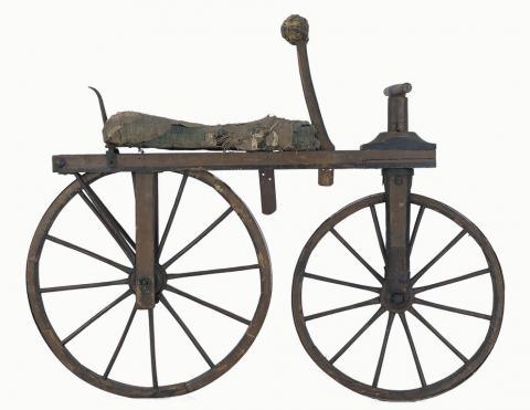 Draisienne fabriquée en France vers 1820