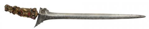 Kriss malais : arme d'estoc du XIXe siècle fabriquée en Asie