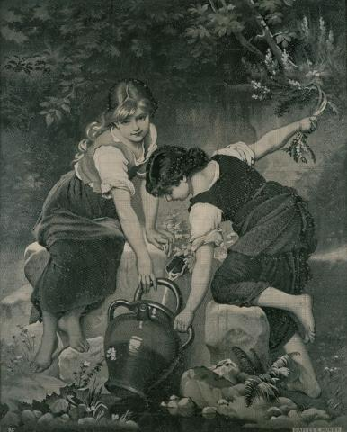 Mise en carte `` A la Source '', Saint-Etienne, Neyret Frères, 1926