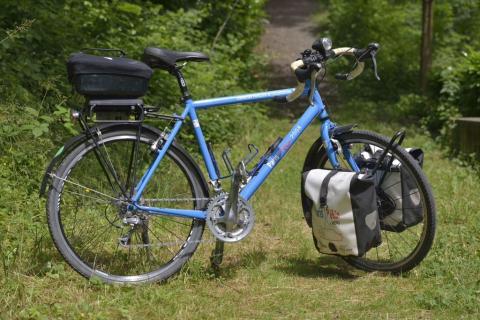 Randonneuse Paris-Pékin à vélo 2008
