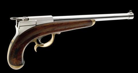 Pistolet des Cent-Gardes modèle 1854 : arme de poing fabriquée en France
