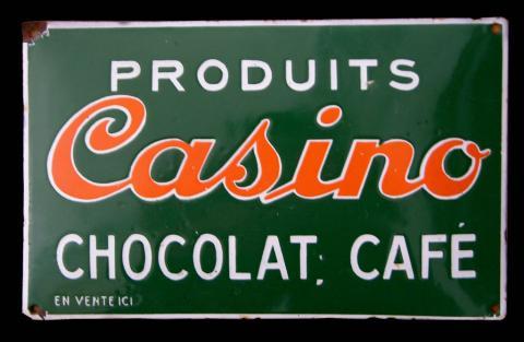 Plaque Chocolat Café Casino