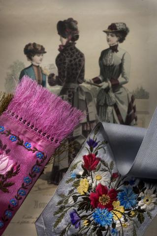 Cravates et rubans, Maison Charles Rebour, Saint-Etienne, 2e moitié du XIXe siècle