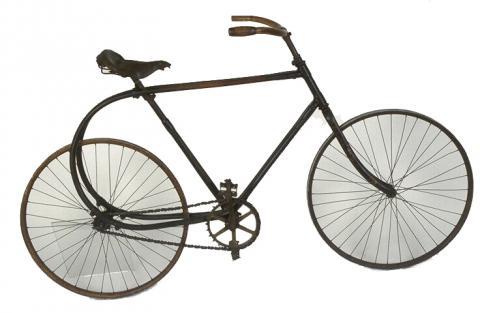 Bicyclette en bois courbé «La Souplette» Don atelier du Furan Paris, 1897