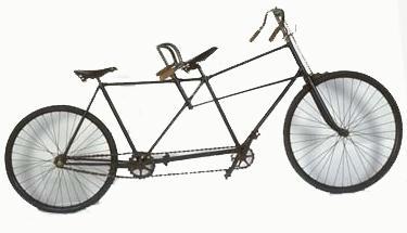 Tandem à direction couplée Fabricant Société des vélocipèdes Clément, Paris, 1895