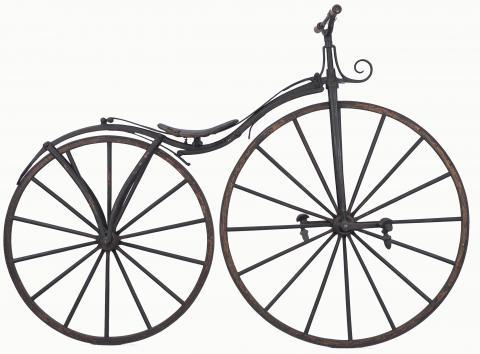 Vélocipède à corps cintré Fabricant Pierre Michaux, Paris, juin-juillet 1868