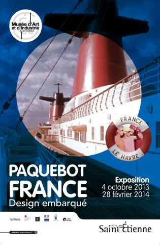 Affiche de l'exposition Paquebot France, design embarqué