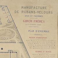 Manufacture de rubans et velours giron fr res plan d - Mobilier jardin d ulysse saint etienne ...
